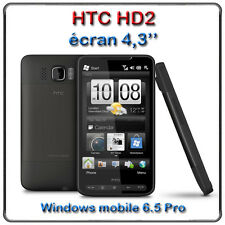 mobile HTC hd2 4,3'' complet batterie alimentation housse de protection