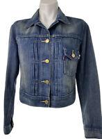 Levis Vintage Womens Medium Red Tab Type 1 Trucker Denim Blue Jean Jacket