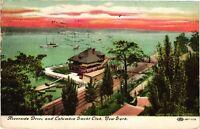 Vintage Postcard - 1910 Riverside Drive And Columbia Yacht Club NEW YORK  #2854