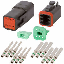 DT Enhanced Seal 6 Pin Black Connector Kit w/ 14 AWG Solid Contacts