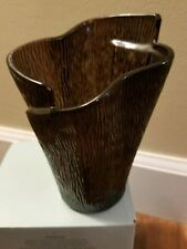 Partylite - Sabor Isleno Votive Holder -Brown Glass - New In Box