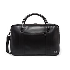 Fred Perry Men's Pique Texture Overnight Bag In Black 100% Authentic