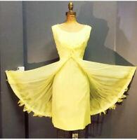 Vintage 1950s Yellow Chiffon Party Dress
