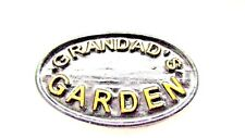 GRANDADS GARDEN WALL PLAQUE WALL SIGN IN BLACK WITH GOLD RAISED LETTERING