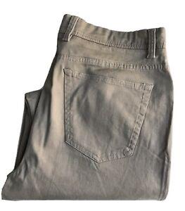 Saks Fifth Avenue Twill Jeans, Regular Fit, 33 x 32, Dark Tan, 100% Cotton
