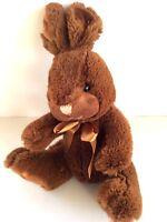 "Brown Easter Bunny 14"" Sitting Rabbit Soft Plush Stuffed Animal Baby Gift"