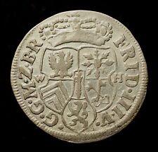 Kfsm. Brandenburg-Preußen, Friedrich III., 1/12 Taler 1690 WH Emmerich, R!