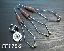 3 Ceramic Tip Fly Tying  Bobbins For Small Spools - Wood Handle Bobbin FF178-S