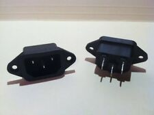 AC Power Jack 2pcs Computer Style Projects Panel Mount Single Phase 250v 10A Max