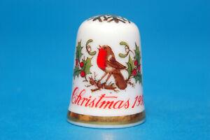 B//88 Santa It/'s Been A Hard Days Night Exclusive Christmas China Thimble