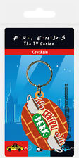 FRIENDS CENTRAL PERK BRICK LOGO RUBBER KEYRING NEW OFFICIAL MERCHANDISE PYRAMID