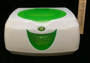 MUNCHKIN Glow Wipe Warmer By INTERTEK Model 10049 White Plastic w/ Green