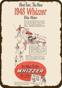 1948 WHIZZER MOTOR BIKE BICYCLE Vintage Look METAL SIGN -NOT ACTUAL BIKE MOTOR !