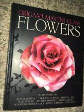 Origami Masters Class Paper Flowers Book Hardcover Home Arts And Crafts Diy