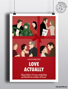 LOVE ACTUALLY - Minimalist Christmas Movie Poster Minimal Xmas Film Posteritty