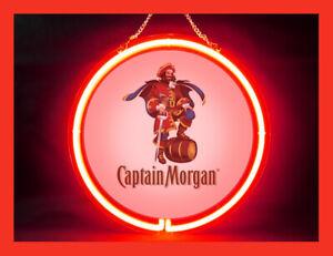 Captain Morgan Spiced Rum Pub Bar Display Advertising Neon Sign