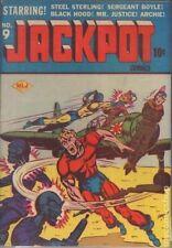 Jackpot Comics #9-Tied to Plane-Bondage-WW2-Japanese-Early Archie-Coverless-10c