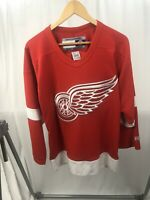 Vintage CCM Detroit Red Wings Jersey NHL Hockey Canada Sewn Men's Small Red VTG
