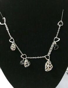 Links of London Sterling Silver /& Black Cord Amulet ID Bracelet