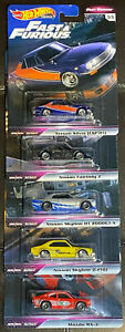2019 Hot Wheels FAST AND FURIOUS FAST REWIND FULL SET OF 5 REAL RIDERS NIP