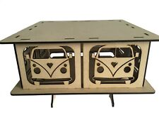 Wedding Cake Stand, Large Camper Van, Square  Design MDF 14""