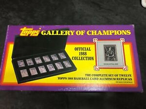 1988 Topps Baseball Gallery of Champions Aluminum Replicas Brand New in Box