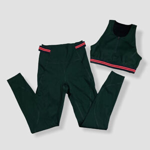 Lndr Womens Elements Lightweight Compression Leggings Sports Bra Set Small