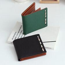 OMNIA Men's High Genuine Leather Foman Cowhide Half Wallet Purse Italian g0790