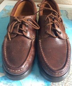 Gemts Size 9 Leather Deck Shoes Tan Brown