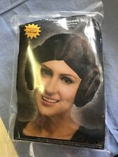 Galaxy-Princess-Wig-Adult-One-Size-Brown-Buns-on-Side-Polyester-Olefin-Ages 14+