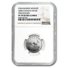 2000 Canada 1/2 oz Proof Platinum $150 Pronghorn PF-70 NGC