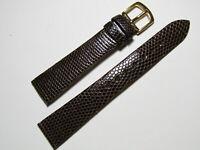 "Hadley-Roma MS700 18mm Watch Strap Men""s Brown Genuine Lizard"