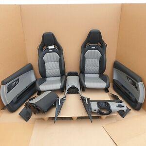 Mercedes AMG GT C C190 Innenausstattung Sitze Komplett Leder Schwarz Silber