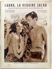 SUPP. CINEMA ILLUSTRAZIONE 1933 LUANA VERGINE SACRA DOLORES DEL RIO JOEL  CREA