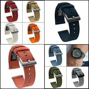 Barton Canvas Quick Release Watch Band Straps 18, 19, 20, 21, 22, 23mm, or 24mm