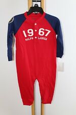 Ralph Lauren Polo Baby Boy's Boy Size 9 Months NWT NEW Outfit 1PC Red Navy