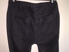 HUE Black Metallic Leggings Size Small with silver threads legging pants