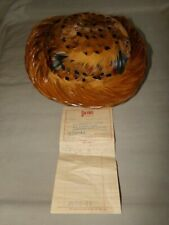 Vintage Pheasant Feather Hat By Pasadena Hats Original 1964 Garvins Receipt