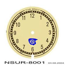 Uhren-Ziffernblatt  VDO/Kienzle Uhr für NSU  56mm