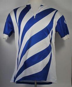 Vintage AU TOUR DE FRANCE Cycling Jersey - Blue/White Stripe - Women's M Men's S
