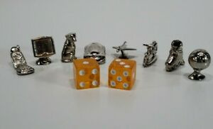 Millennium Monopoly Game Play 8 Tokens 2 Dice Replacement Parts Family Night