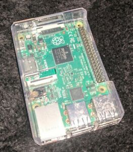 Raspberry Pi 2 Model B with clear case