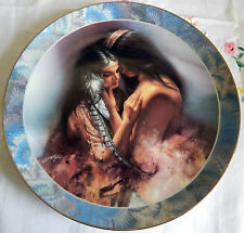 """'The Embrace' by Lee Bogle, 'Soul Mates' Collector Plate 8-1/4"""" (1995)"""
