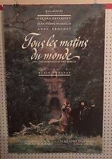 Original Movie Poster For Jous Les Matins Du Monde Single Sided 27x40