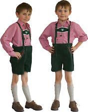 kurze Lederhose +  Stegträger Kinder Trachten grün  134
