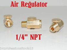 "Air Regulator Pressure Adjustable Solid Brass 1/4"" NPT Fitting For Air Tools"