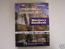 Holt Literature and Language Arts third Warriner's book 0030992346