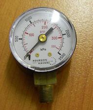 Pressure Gauge 0..2500 kPa / 350 psi 40mm Gauge, bottom entry