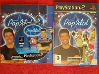 POP IDOL OFFICIAL VIDEO GAME ORIGINAL BLACK LABEL SONY PLAYSTATION 2 PS2 PAL