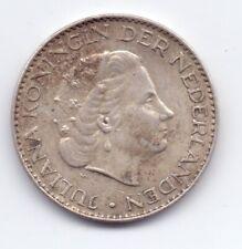 1956 Netherlands Silver 1 Gulden Coin Nederland Dutch 1G